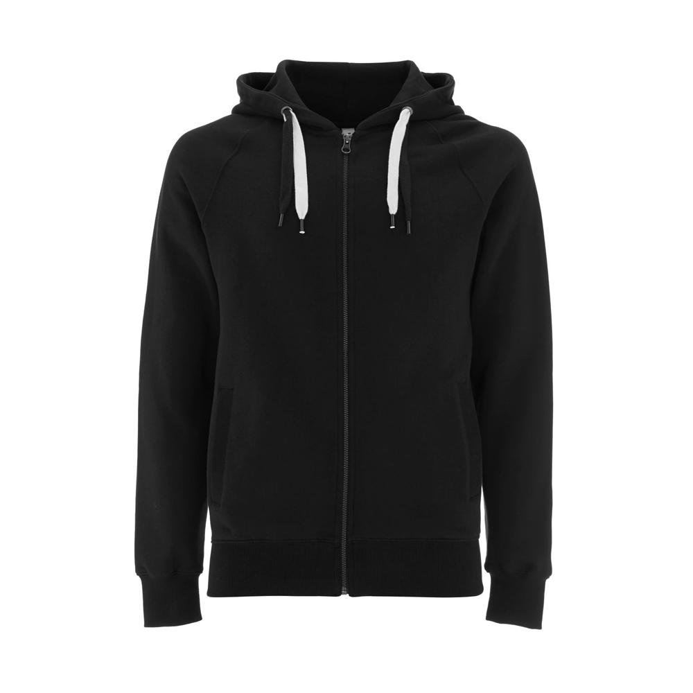 Bluzy - Bluza Unisex z Zamkiem Hoody EP60Z - BL - Black - RAVEN - koszulki reklamowe z nadrukiem, odzież reklamowa i gastronomiczna