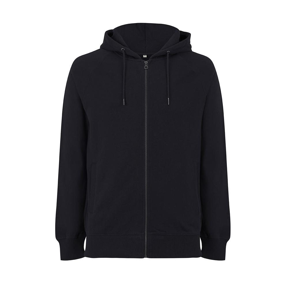 Bluzy - Bluza Unisex z Zamkiem Raglan EP61Z - BL - Black - RAVEN - koszulki reklamowe z nadrukiem, odzież reklamowa i gastronomiczna