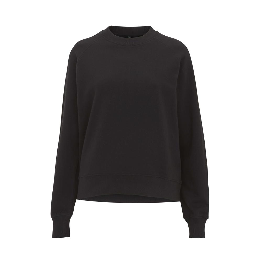Bluzy - Damska Bluza Raglan Sweatshirt EP63 - BL - Black - RAVEN - koszulki reklamowe z nadrukiem, odzież reklamowa i gastronomiczna