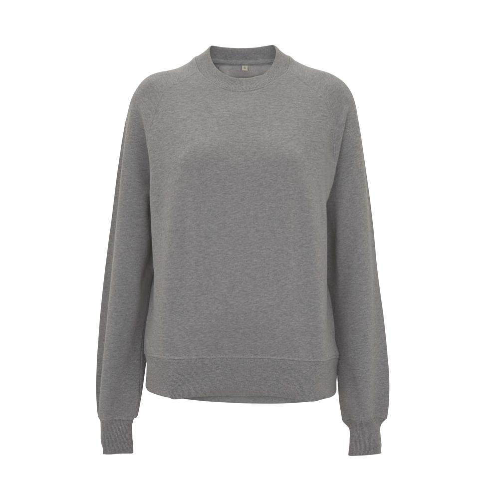 Bluzy - Damska Bluza Raglan Sweatshirt EP63 - LH - Light Heather - RAVEN - koszulki reklamowe z nadrukiem, odzież reklamowa i gastronomiczna