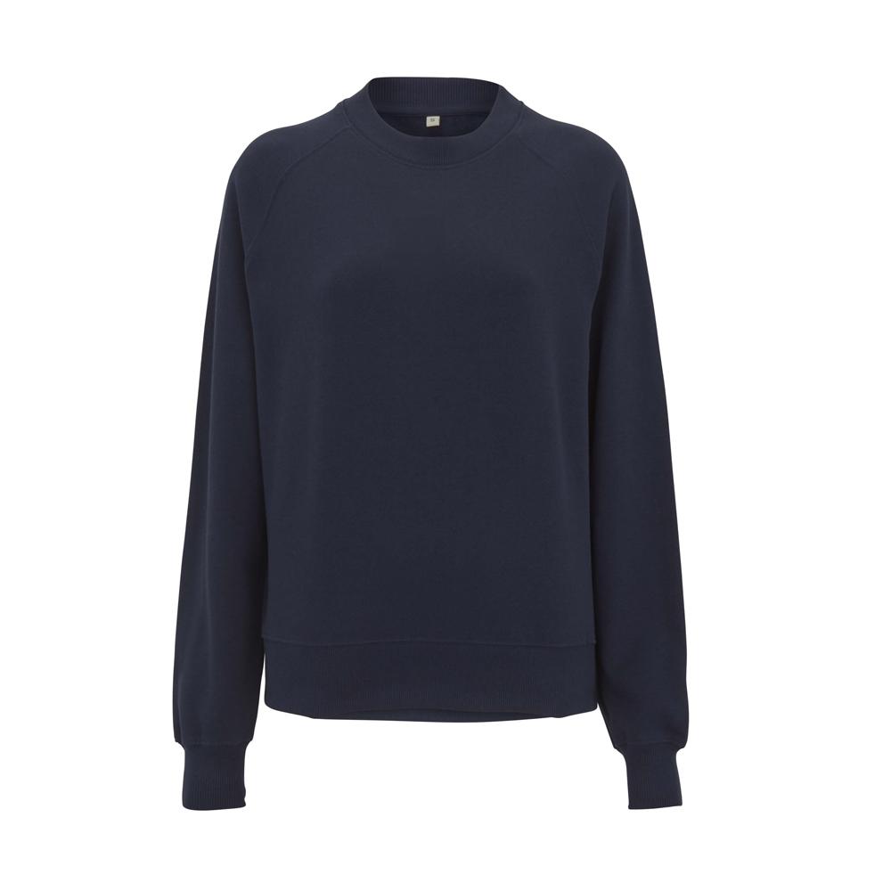 Bluzy - Damska Bluza Raglan Sweatshirt EP63 - NA - Navy - RAVEN - koszulki reklamowe z nadrukiem, odzież reklamowa i gastronomiczna