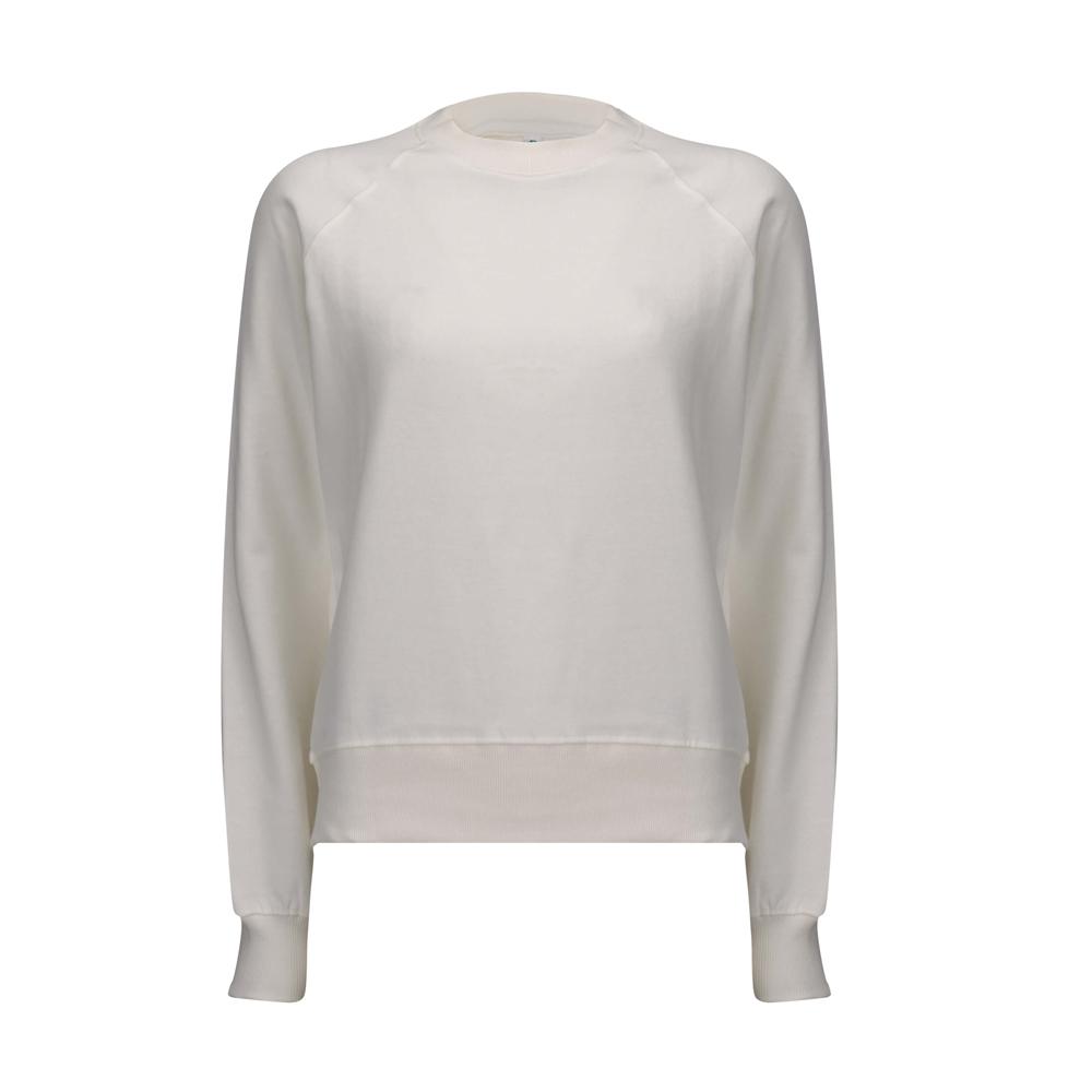 Bluzy - Damska Bluza Raglan Sweatshirt EP63 - WM - White Mist - RAVEN - koszulki reklamowe z nadrukiem, odzież reklamowa i gastronomiczna