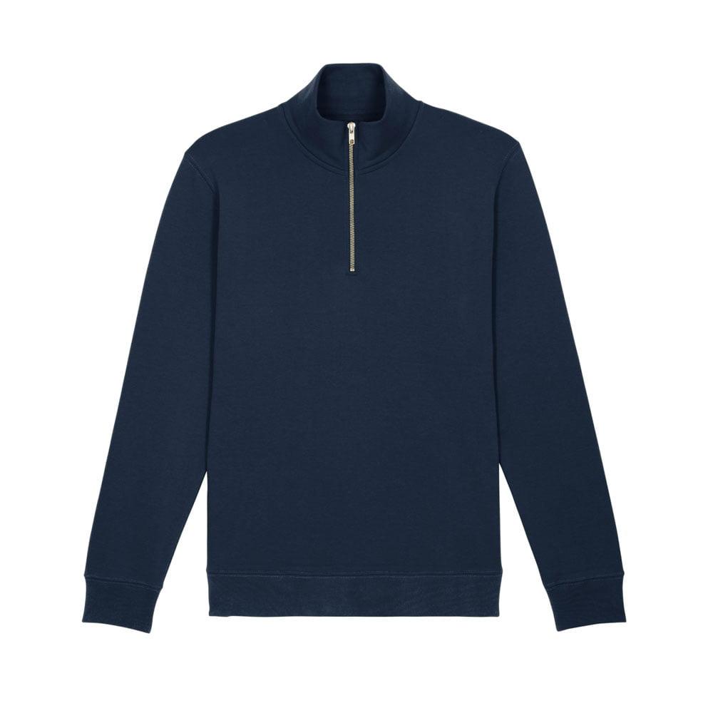 Bluzy - Męska Bluza Zapinana Na Ekspres Stanley Trucker - STSM611 - French Navy - RAVEN - koszulki reklamowe z nadrukiem, odzież reklamowa i gastronomiczna
