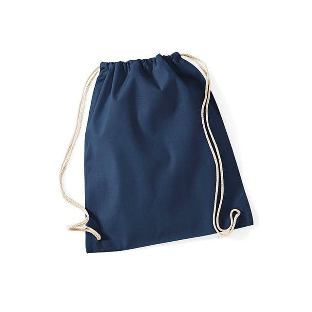 Torby i plecaki - Worek festiwalowy Cotton Gym - W110 - French Navy - RAVEN - koszulki reklamowe z nadrukiem, odzież reklamowa i gastronomiczna