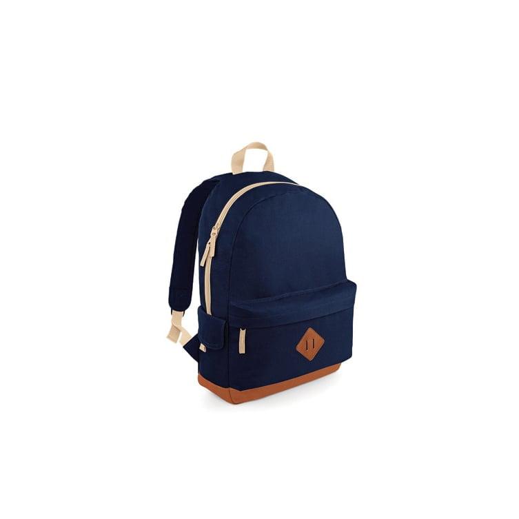 Torby i plecaki - Heritage Backpack - BG825 - French Navy - RAVEN - koszulki reklamowe z nadrukiem, odzież reklamowa i gastronomiczna