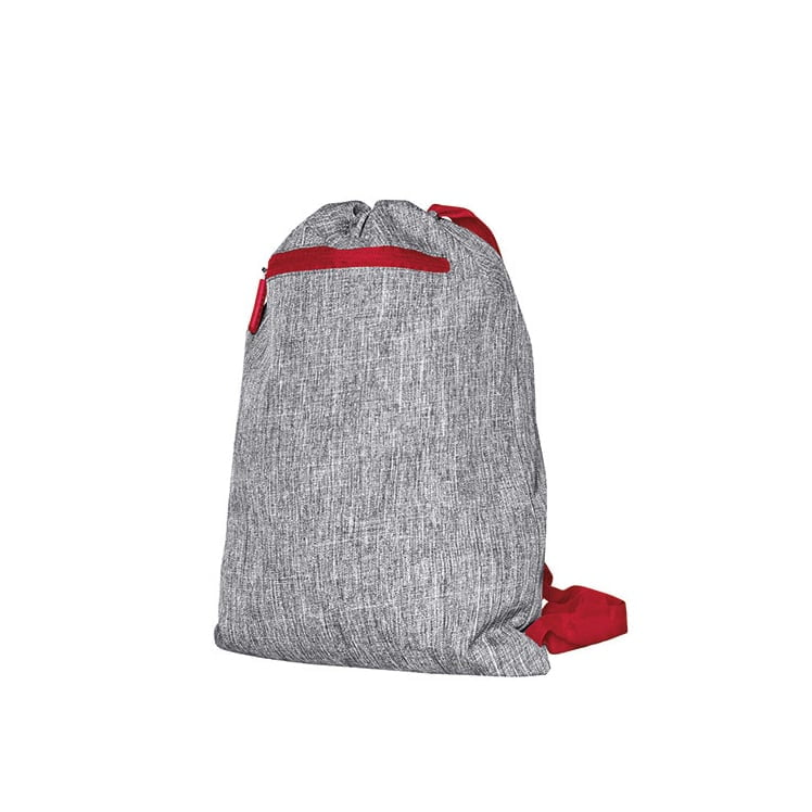 Torby i plecaki - Gymsac - Miami - DTG-15391 - Grey Melange/Red - RAVEN - koszulki reklamowe z nadrukiem, odzież reklamowa i gastronomiczna