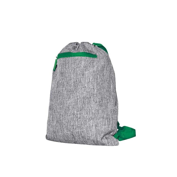 Torby i plecaki - Gymsac - Miami - DTG-15391 - Grey Melange/Green - RAVEN - koszulki reklamowe z nadrukiem, odzież reklamowa i gastronomiczna