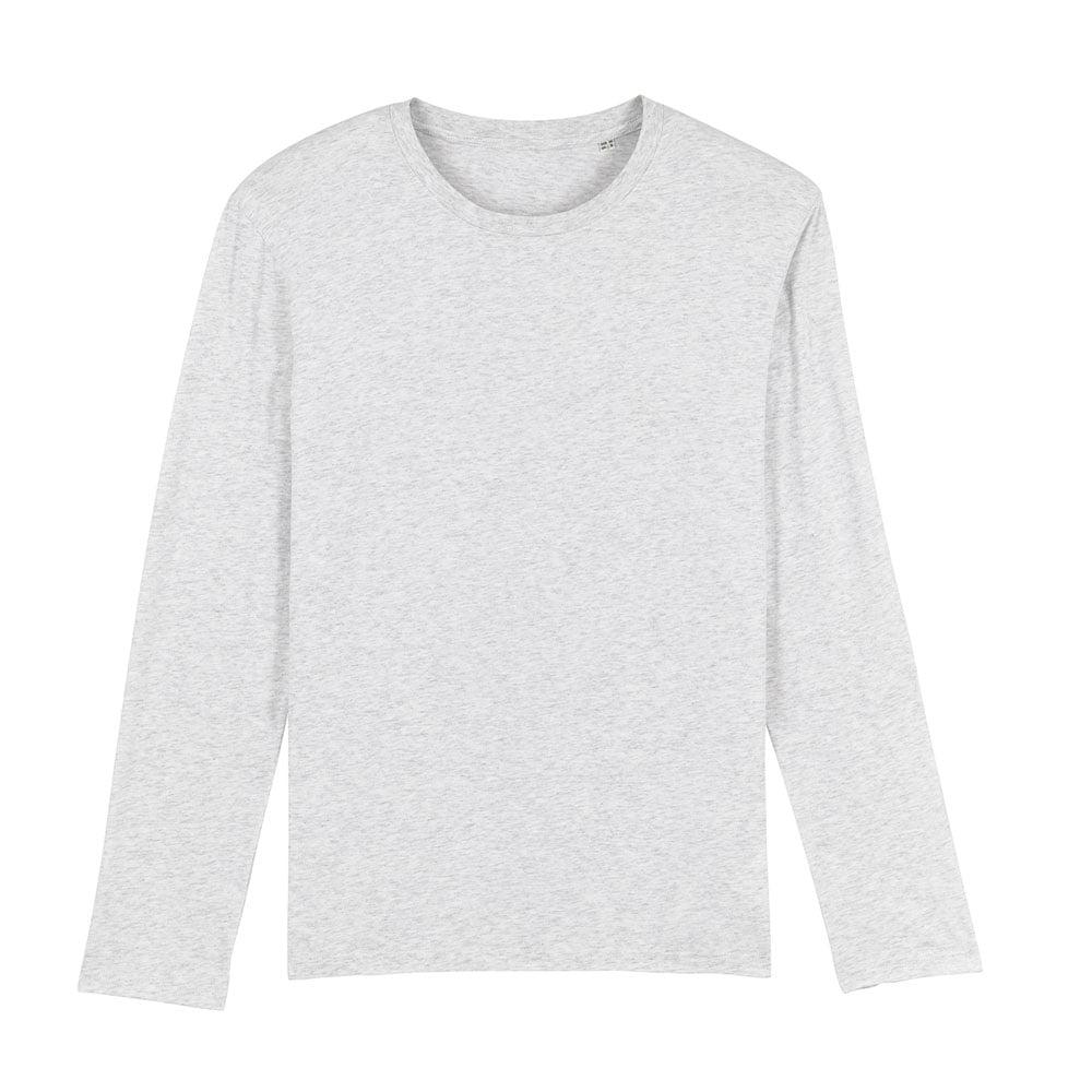 Koszulki T-Shirt - Męski Longsleeve Stanley Shuffler - STTM560 - Heather Ash - RAVEN - koszulki reklamowe z nadrukiem, odzież reklamowa i gastronomiczna