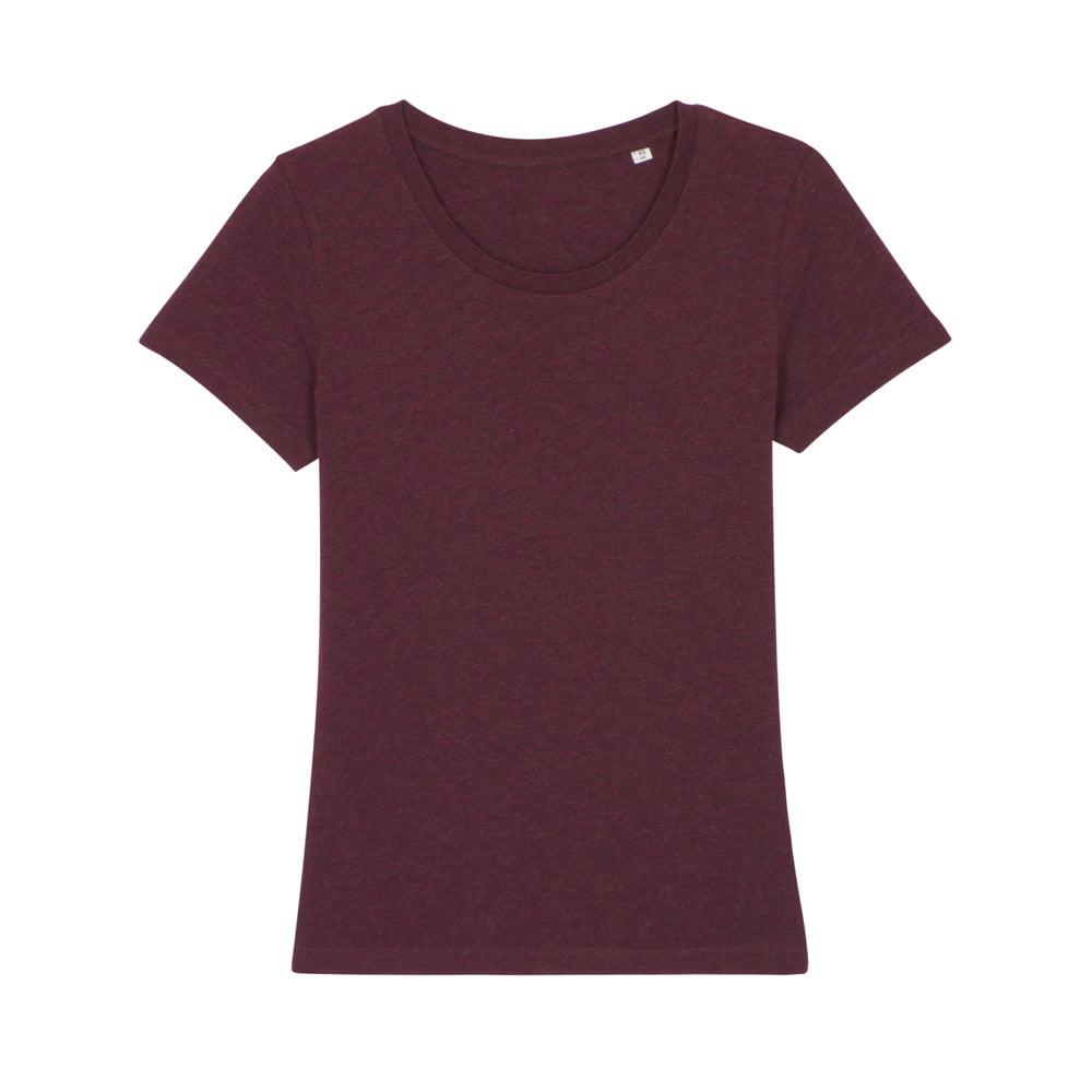 Koszulki T-Shirt - Damski T-shirt Stella Expresser - STTW032 - Heather Grape Red - RAVEN - koszulki reklamowe z nadrukiem, odzież reklamowa i gastronomiczna