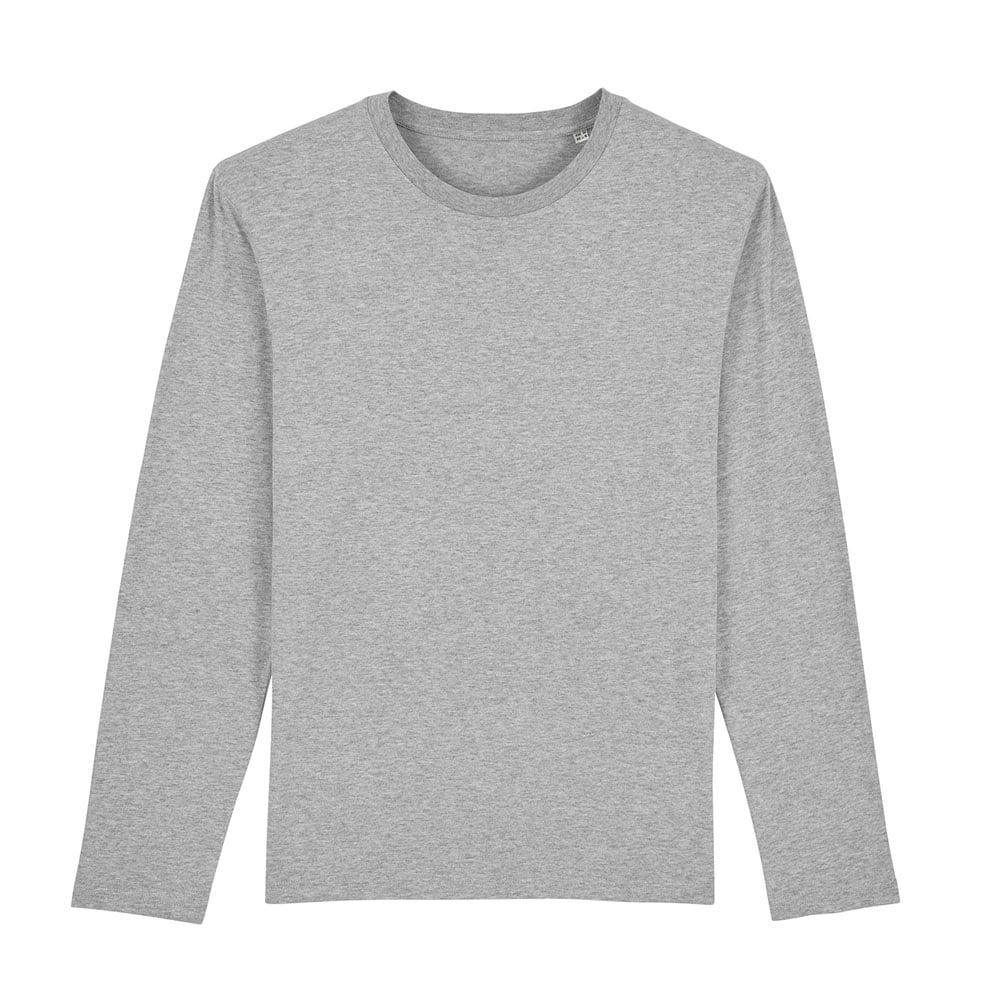 Koszulki T-Shirt - Męski Longsleeve Stanley Shuffler - STTM560 - Heather Grey - RAVEN - koszulki reklamowe z nadrukiem, odzież reklamowa i gastronomiczna