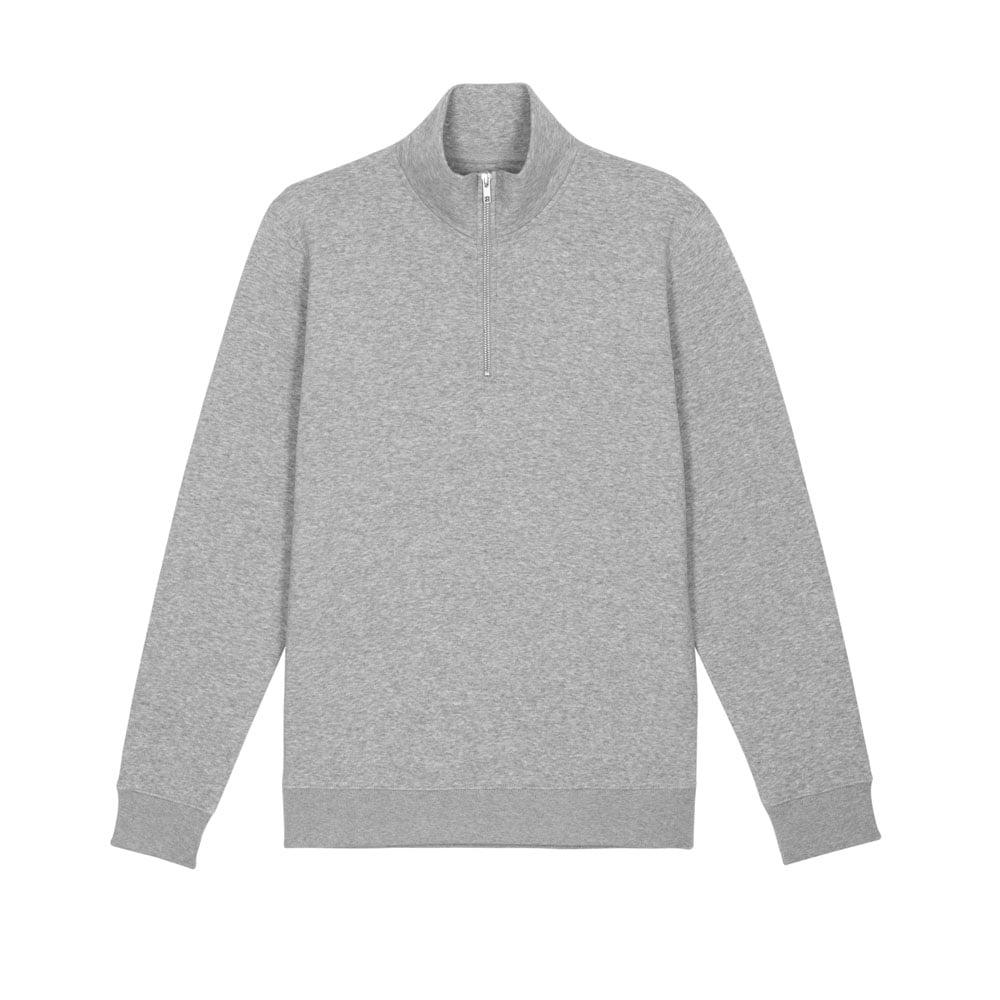 Bluzy - Męska Bluza Zapinana Na Ekspres Stanley Trucker - STSM611 - Heather Grey - RAVEN - koszulki reklamowe z nadrukiem, odzież reklamowa i gastronomiczna