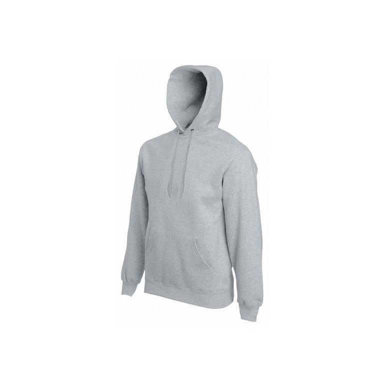 Bluzy - Bluza Premium Hooded - Fruit of the Loom 62-152-0 - Heather Grey - RAVEN - koszulki reklamowe z nadrukiem, odzież reklamowa i gastronomiczna