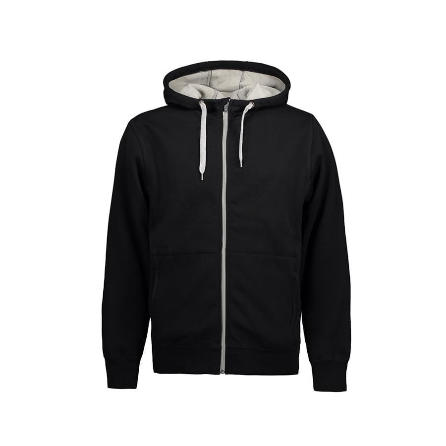Bluzy - Męska rozpinana bluza z kapturem - ID Identity 0630 - Black - RAVEN - koszulki reklamowe z nadrukiem, odzież reklamowa i gastronomiczna