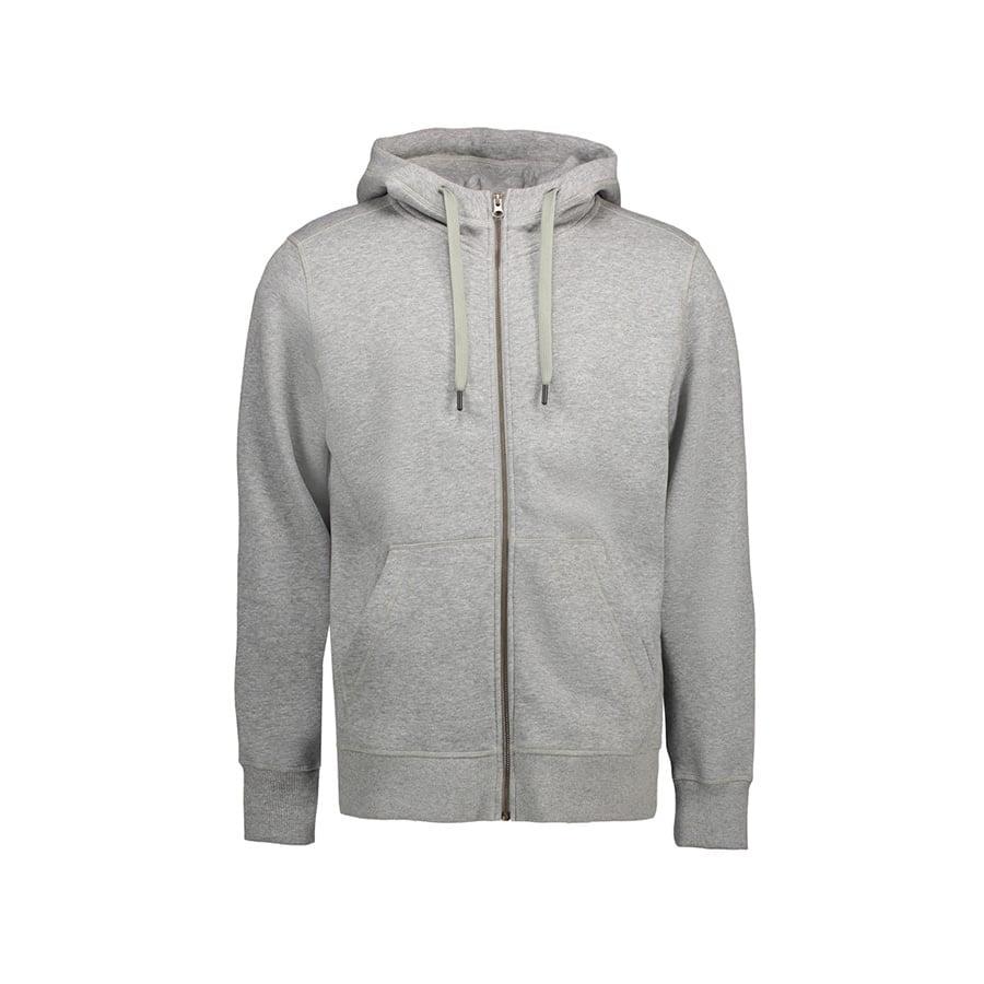 Bluzy - Męska rozpinana bluza CORE - ID Identity 0638 - Grey Melange - RAVEN - koszulki reklamowe z nadrukiem, odzież reklamowa i gastronomiczna