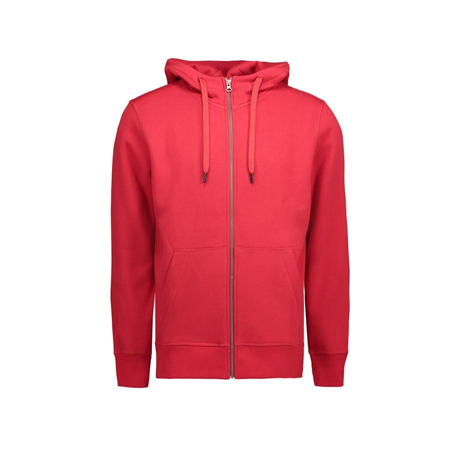 Bluzy - Męska rozpinana bluza CORE - ID Identity 0638 - Red - RAVEN - koszulki reklamowe z nadrukiem, odzież reklamowa i gastronomiczna