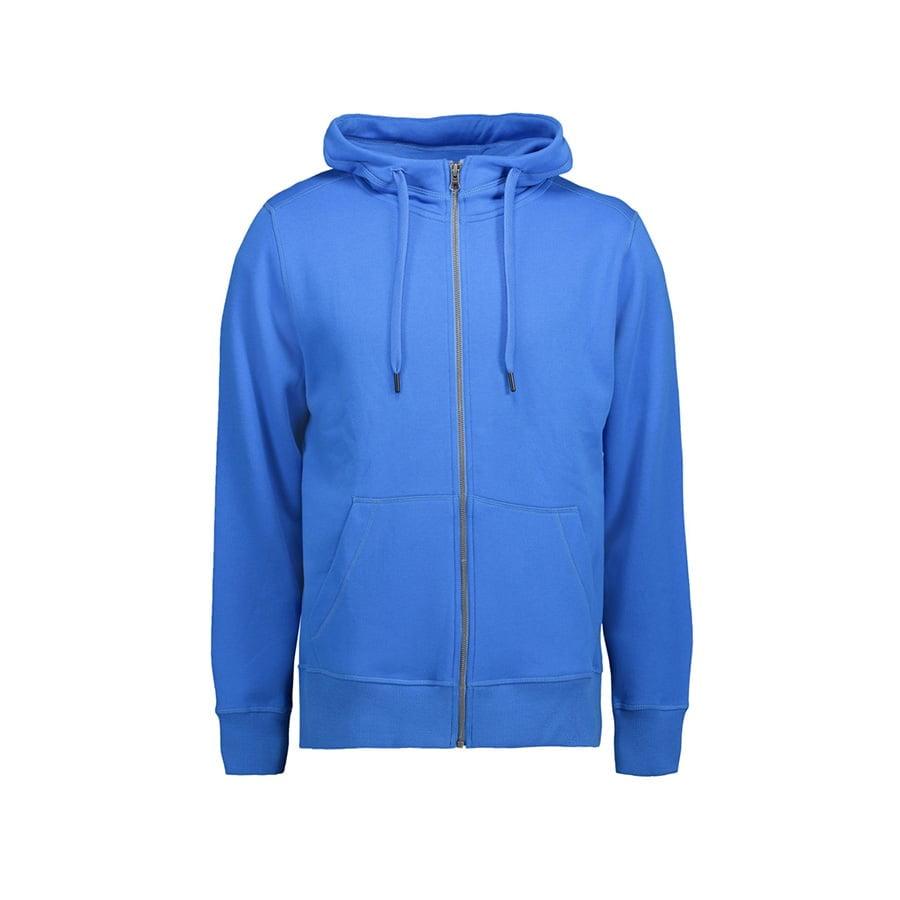 Bluzy - Męska rozpinana bluza CORE - ID Identity 0638 - Azure - RAVEN - koszulki reklamowe z nadrukiem, odzież reklamowa i gastronomiczna