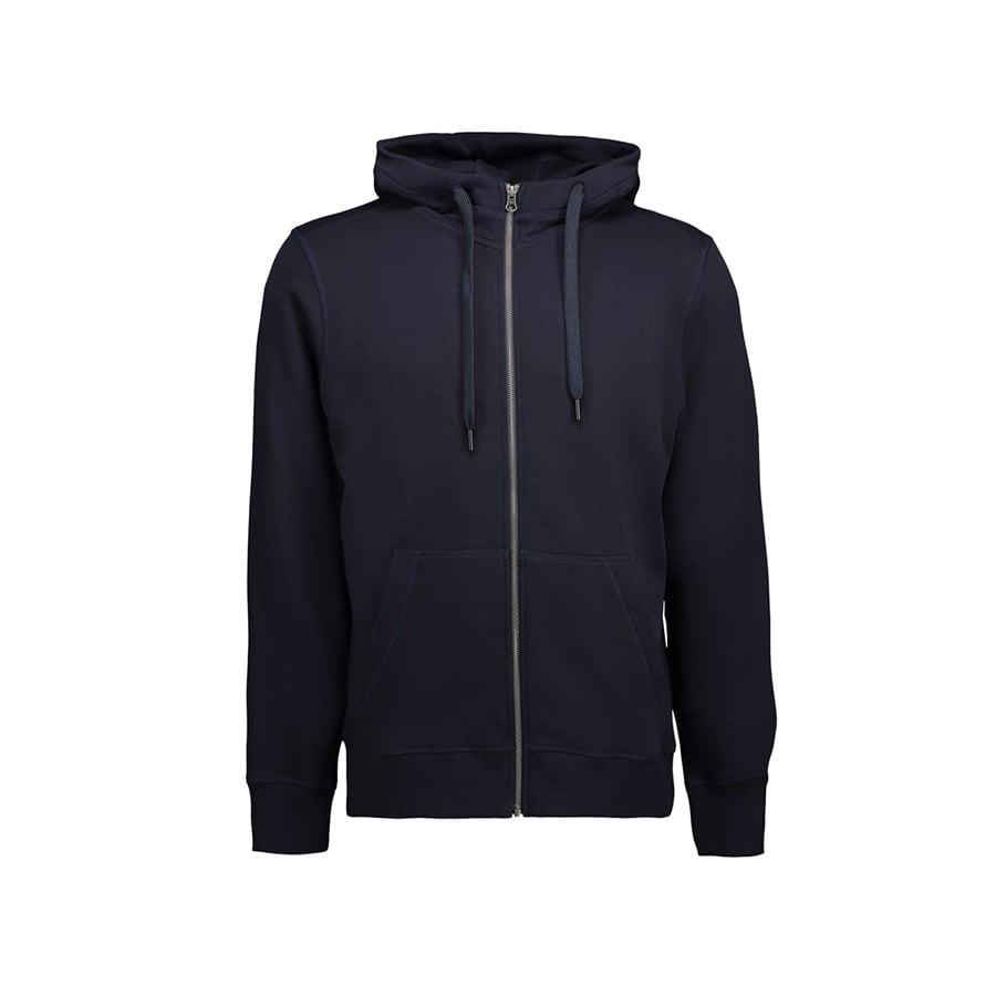 Bluzy - Męska rozpinana bluza CORE - ID Identity 0638 - Navy - RAVEN - koszulki reklamowe z nadrukiem, odzież reklamowa i gastronomiczna