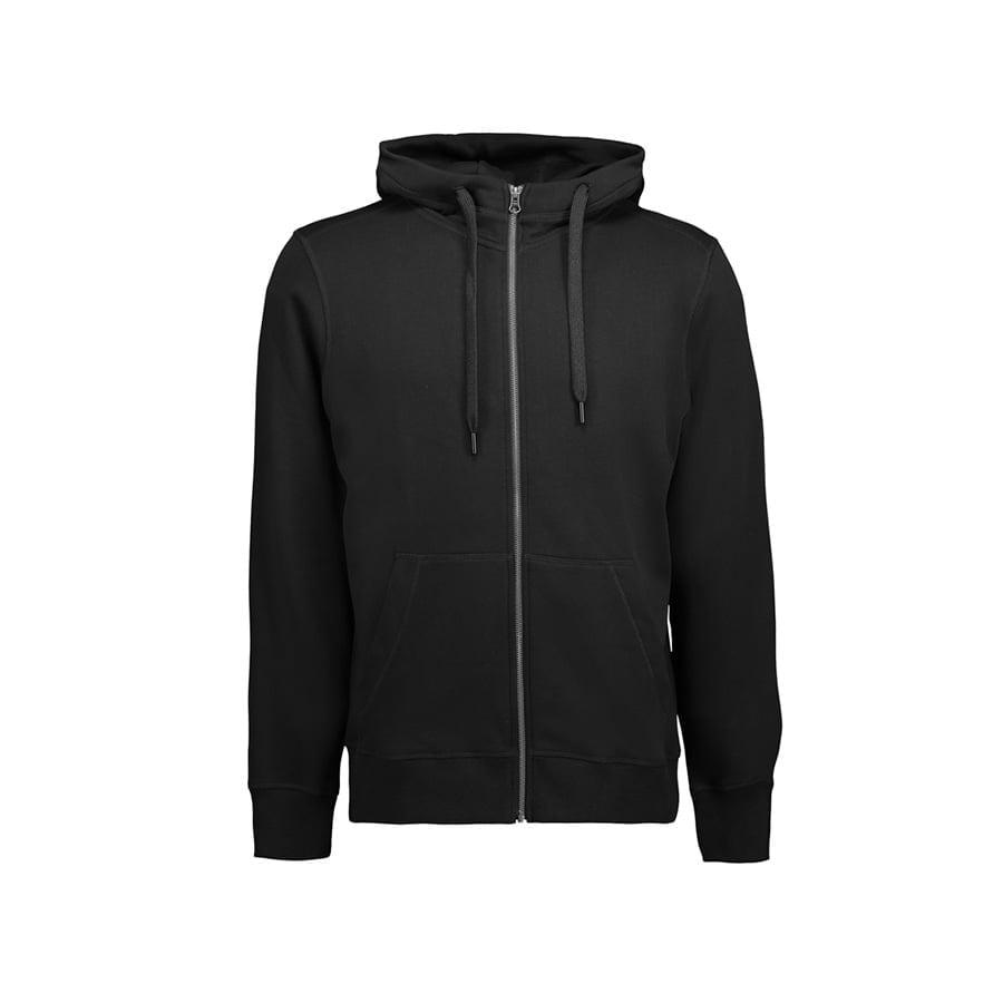 Bluzy - Męska rozpinana bluza CORE - ID Identity 0638 - Black - RAVEN - koszulki reklamowe z nadrukiem, odzież reklamowa i gastronomiczna