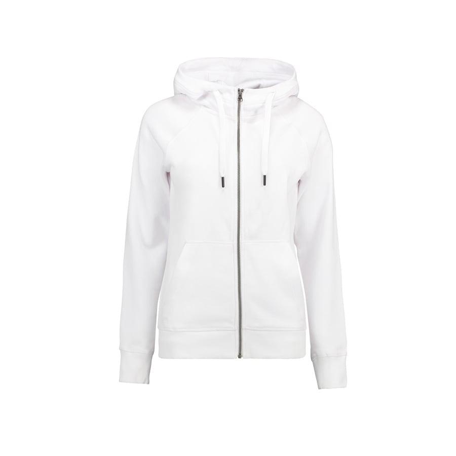 Bluzy - Damska Rozpinana Bluza CORE - ID Identity 0639 - White - RAVEN - koszulki reklamowe z nadrukiem, odzież reklamowa i gastronomiczna