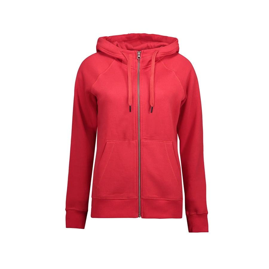 Bluzy - Damska Rozpinana Bluza CORE - ID Identity 0639 - Red - RAVEN - koszulki reklamowe z nadrukiem, odzież reklamowa i gastronomiczna