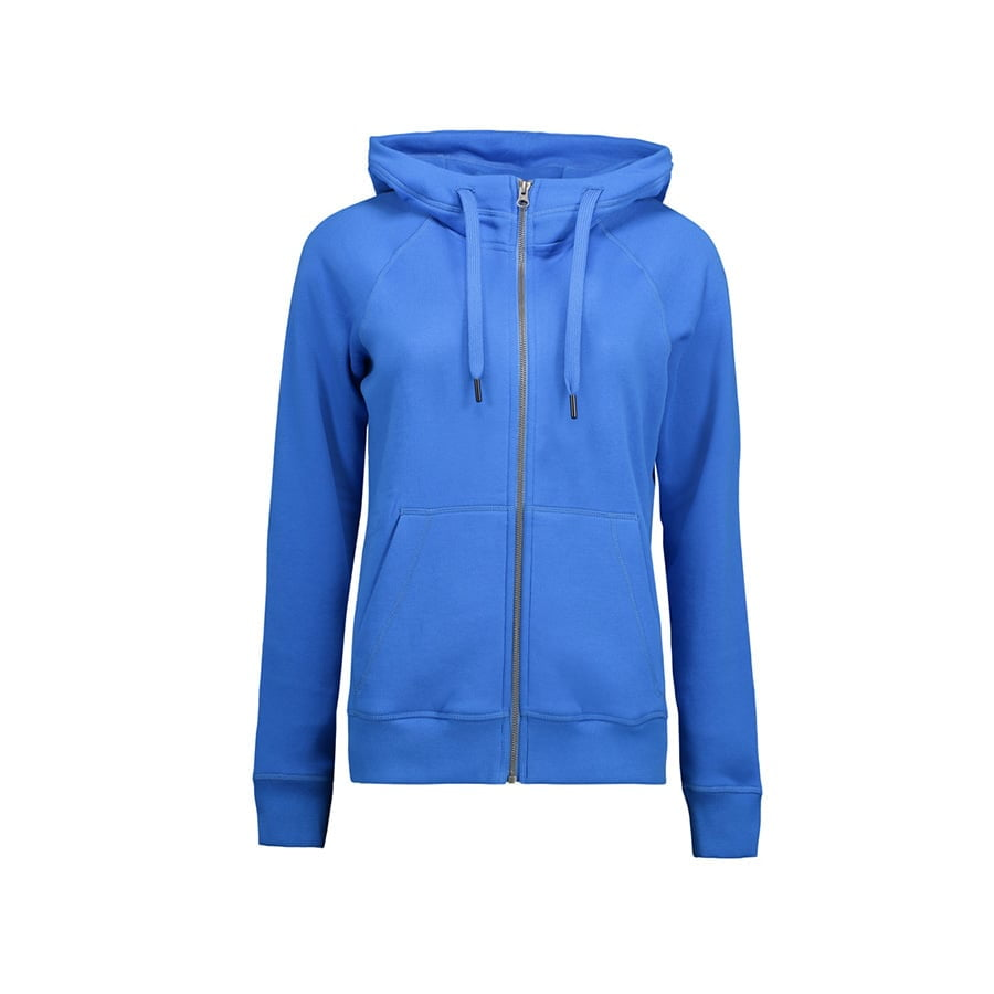 Bluzy - Damska Rozpinana Bluza CORE - ID Identity 0639 - Azure - RAVEN - koszulki reklamowe z nadrukiem, odzież reklamowa i gastronomiczna