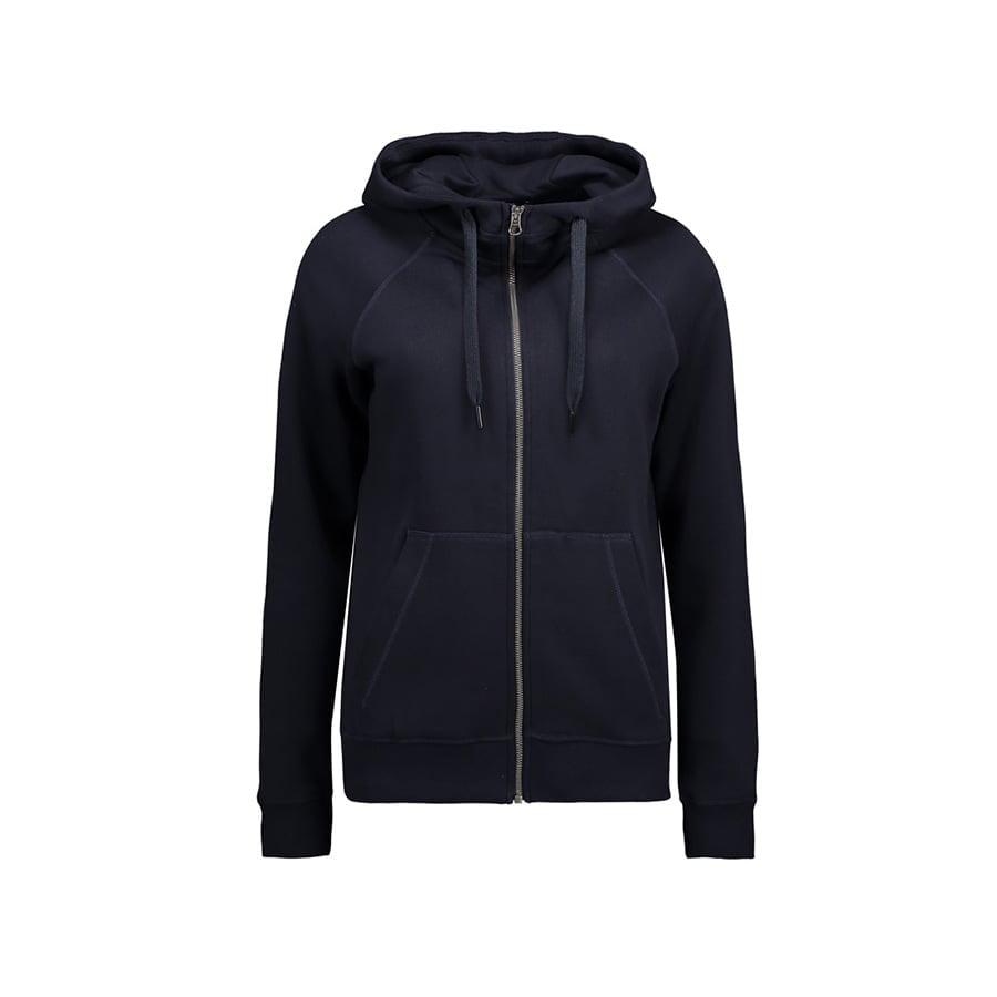 Bluzy - Damska Rozpinana Bluza CORE - ID Identity 0639 - Navy - RAVEN - koszulki reklamowe z nadrukiem, odzież reklamowa i gastronomiczna
