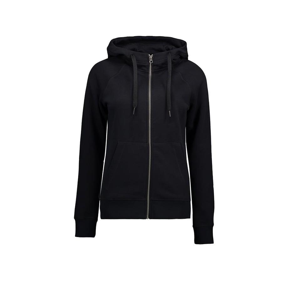 Bluzy - Damska Rozpinana Bluza CORE - ID Identity 0639 - Black - RAVEN - koszulki reklamowe z nadrukiem, odzież reklamowa i gastronomiczna