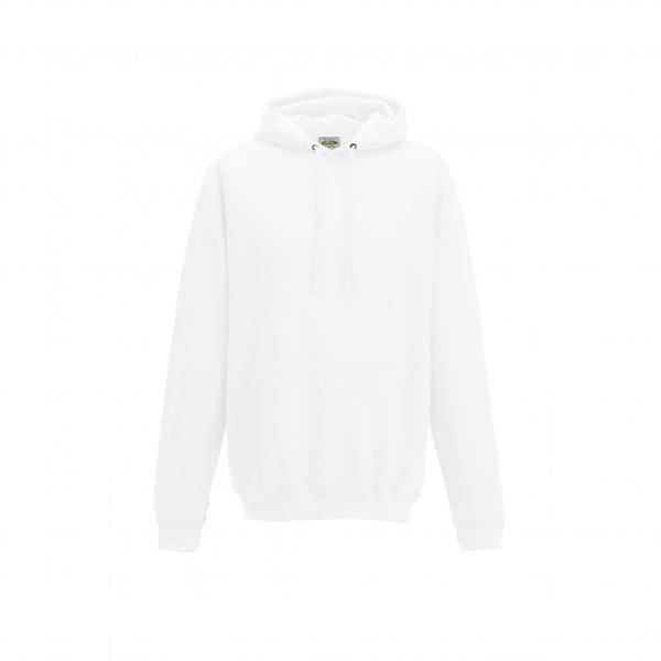 Bluzy - Bluza z kapturem College - Just Hoods JH001 - White - RAVEN - koszulki reklamowe z nadrukiem, odzież reklamowa i gastronomiczna