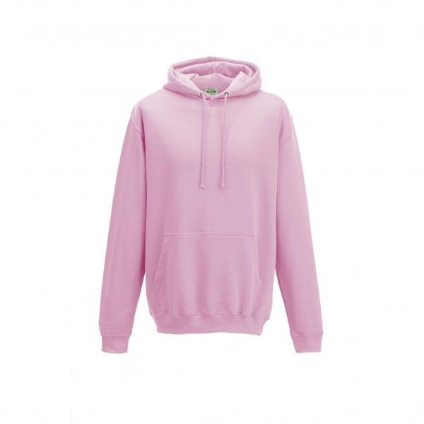 Bluzy - Bluza z kapturem College - Just Hoods JH001 - Baby Pink - RAVEN - koszulki reklamowe z nadrukiem, odzież reklamowa i gastronomiczna