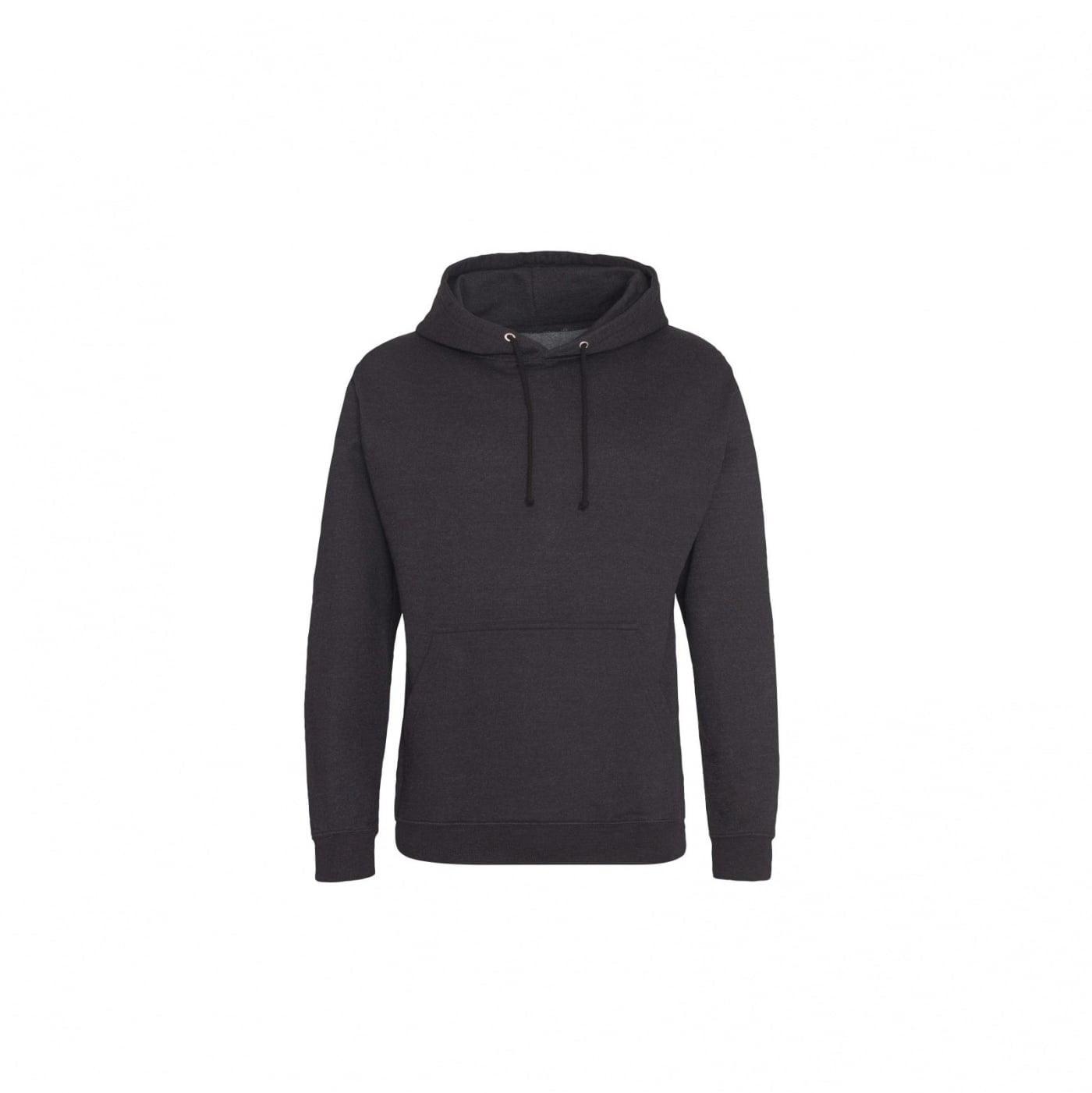 Bluzy - Bluza z kapturem College - Just Hoods JH001 - Black Smoke - RAVEN - koszulki reklamowe z nadrukiem, odzież reklamowa i gastronomiczna