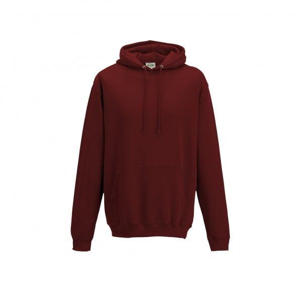 Bluzy - Bluza z kapturem College - Just Hoods JH001 - Brick Red - RAVEN - koszulki reklamowe z nadrukiem, odzież reklamowa i gastronomiczna