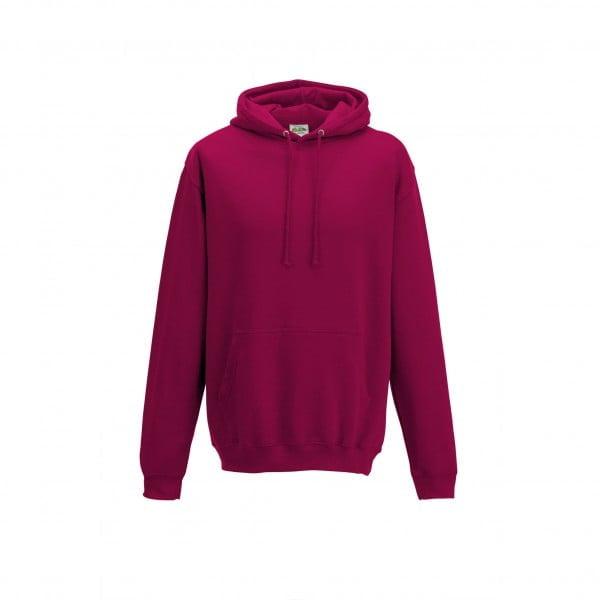 Bluzy - Bluza z kapturem College - Just Hoods JH001 - Cranberry - RAVEN - koszulki reklamowe z nadrukiem, odzież reklamowa i gastronomiczna