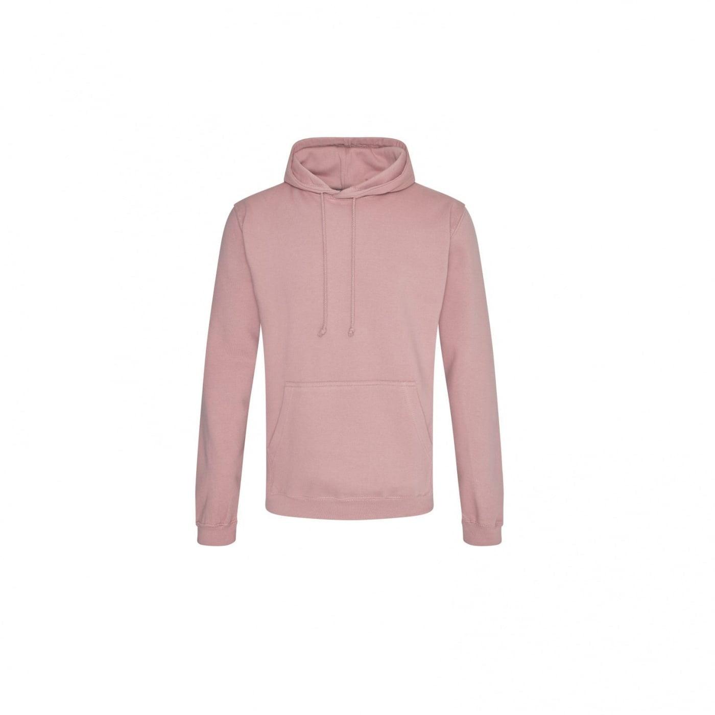 Bluzy - Bluza z kapturem College - Just Hoods JH001 - Dusty Pink - RAVEN - koszulki reklamowe z nadrukiem, odzież reklamowa i gastronomiczna