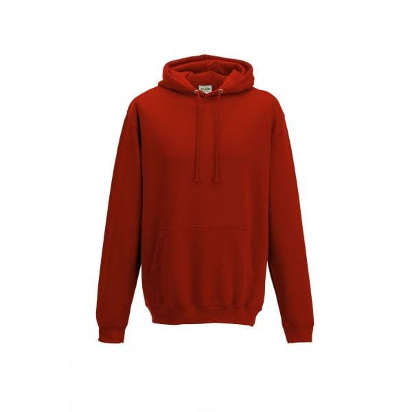 Bluzy - Bluza z kapturem College - Just Hoods JH001 - Fire Red - RAVEN - koszulki reklamowe z nadrukiem, odzież reklamowa i gastronomiczna