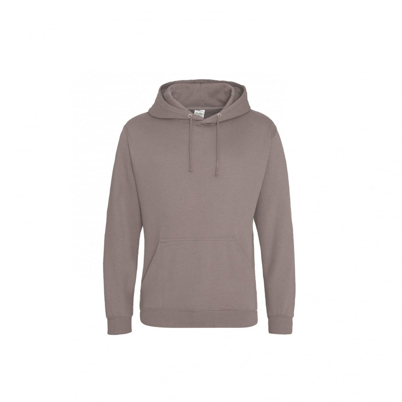 Bluzy - Bluza z kapturem College - Just Hoods JH001 - Mocha Brown - RAVEN - koszulki reklamowe z nadrukiem, odzież reklamowa i gastronomiczna