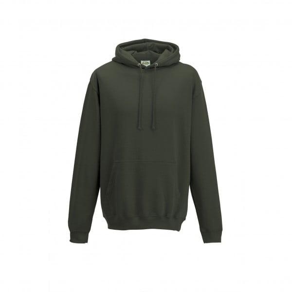 Bluzy - Bluza z kapturem College - Just Hoods JH001 - Olive Green - RAVEN - koszulki reklamowe z nadrukiem, odzież reklamowa i gastronomiczna