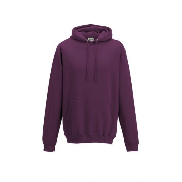 Bluzy - Bluza z kapturem College - Just Hoods JH001 - Plum - RAVEN - koszulki reklamowe z nadrukiem, odzież reklamowa i gastronomiczna