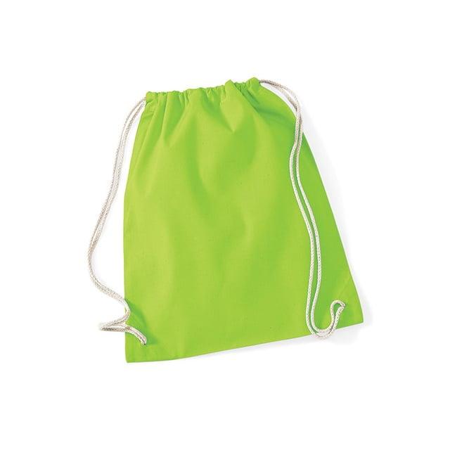 Torby i plecaki - Worek festiwalowy Cotton Gym - W110 - Lime Green - RAVEN - koszulki reklamowe z nadrukiem, odzież reklamowa i gastronomiczna