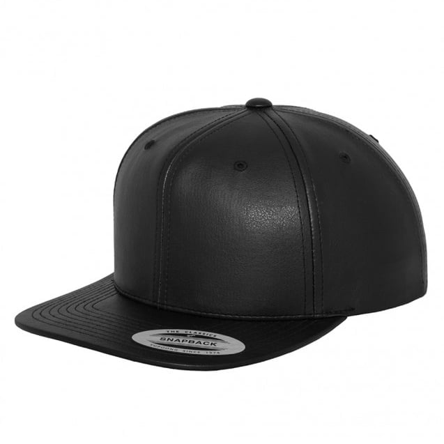 Czapka Snapback Leather Imitation