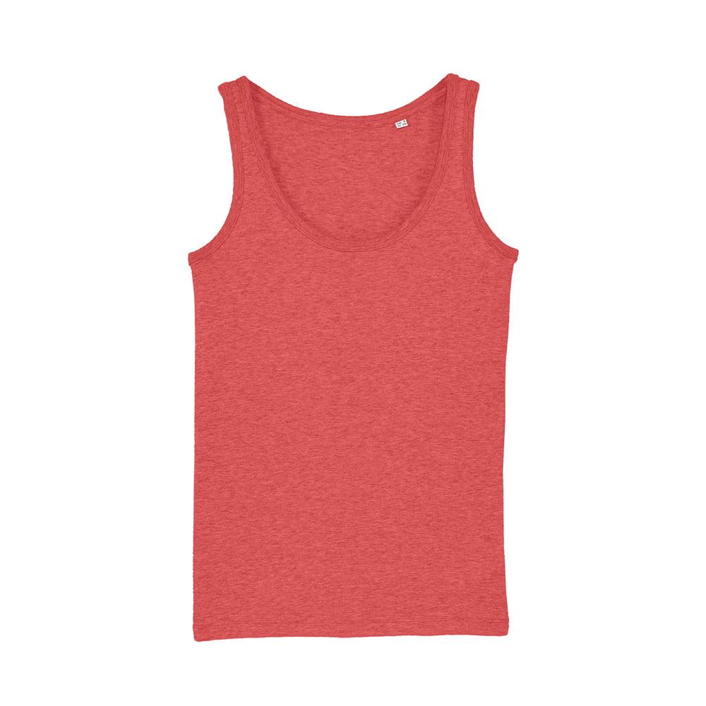 Koszulki T-Shirt - Damski Tank Top Stella Dreamer - STTW013 - Mid Heather Red - RAVEN - koszulki reklamowe z nadrukiem, odzież reklamowa i gastronomiczna