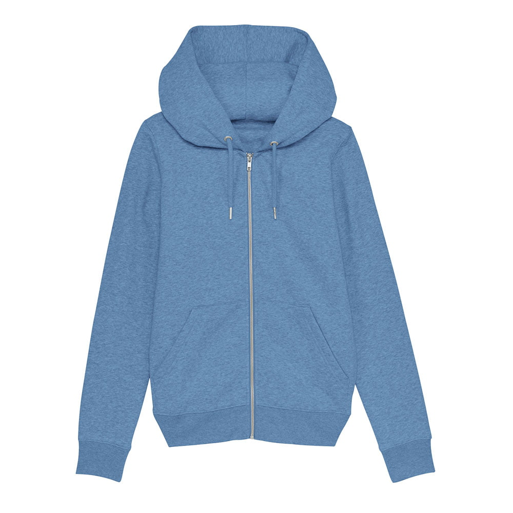 Bluzy - Damska Bluza Stella Editor - STSW149 - Mid Heather Blue - RAVEN - koszulki reklamowe z nadrukiem, odzież reklamowa i gastronomiczna