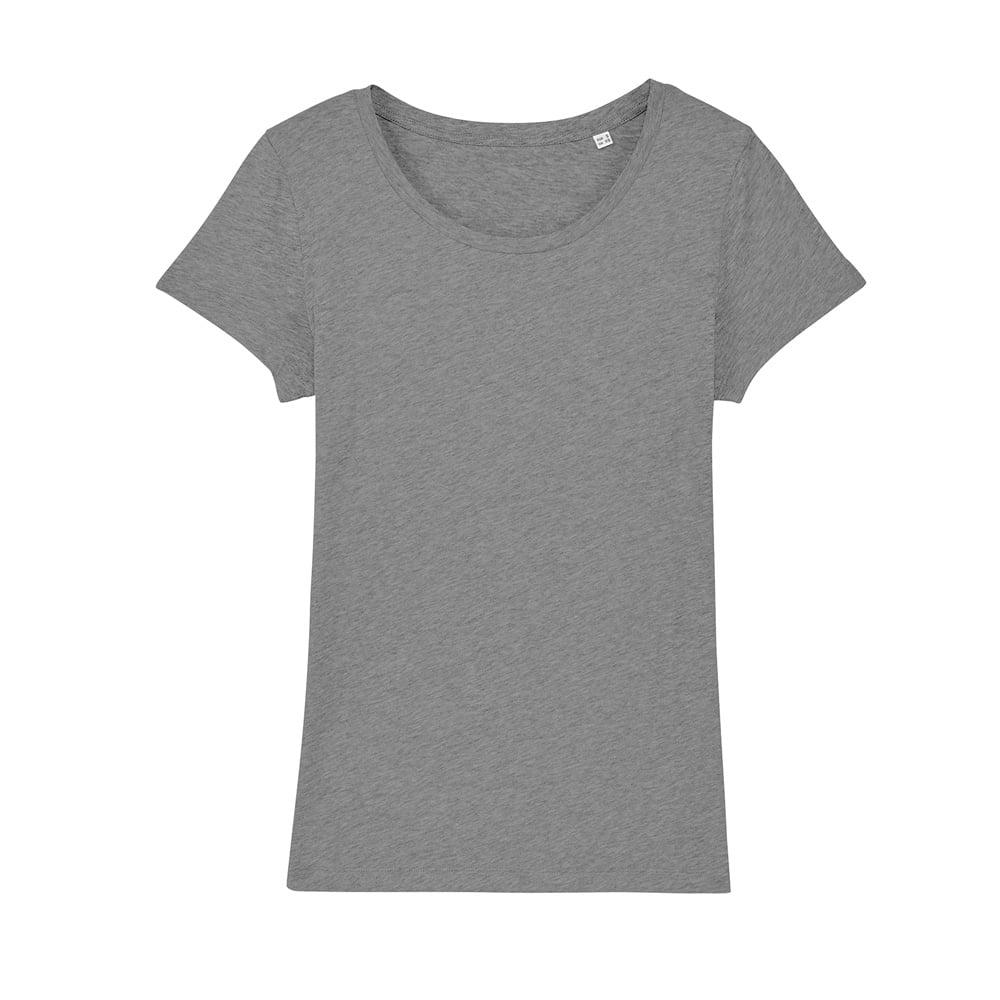 Koszulki T-Shirt - Damski T-shirt Stella Lover - STTW017 - Mid Heather Grey - RAVEN - koszulki reklamowe z nadrukiem, odzież reklamowa i gastronomiczna