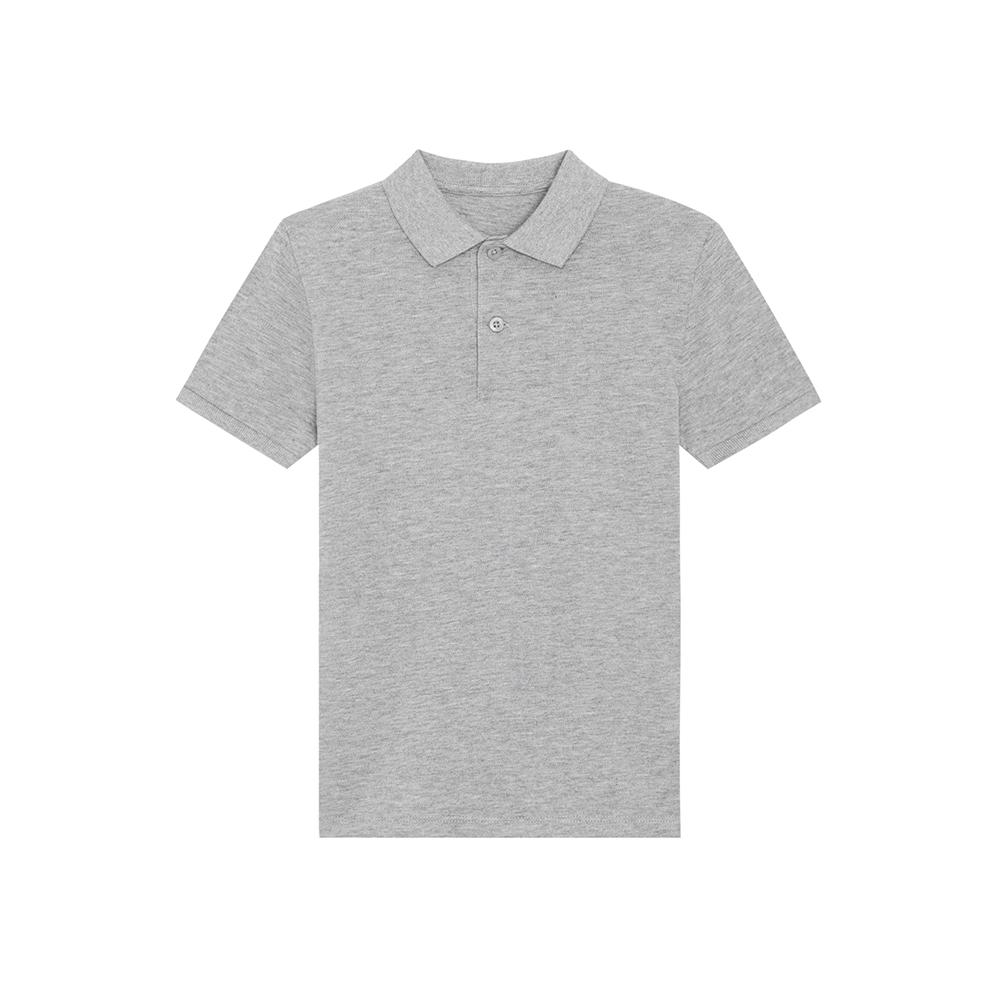 Odzież dziecięca - Polo shirt Mini Sprinter - STPK908 - Heather Grey - RAVEN - koszulki reklamowe z nadrukiem, odzież reklamowa i gastronomiczna