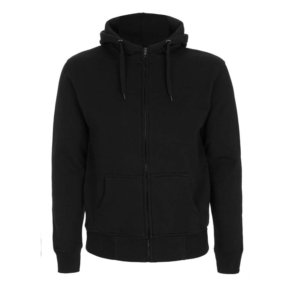 Bluzy - Męska Bluza z Zamkiem high neck N52Z - BL - Black - RAVEN - koszulki reklamowe z nadrukiem, odzież reklamowa i gastronomiczna