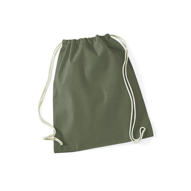 Torby i plecaki - Worek festiwalowy Cotton Gym - W110 - Olive Green - RAVEN - koszulki reklamowe z nadrukiem, odzież reklamowa i gastronomiczna