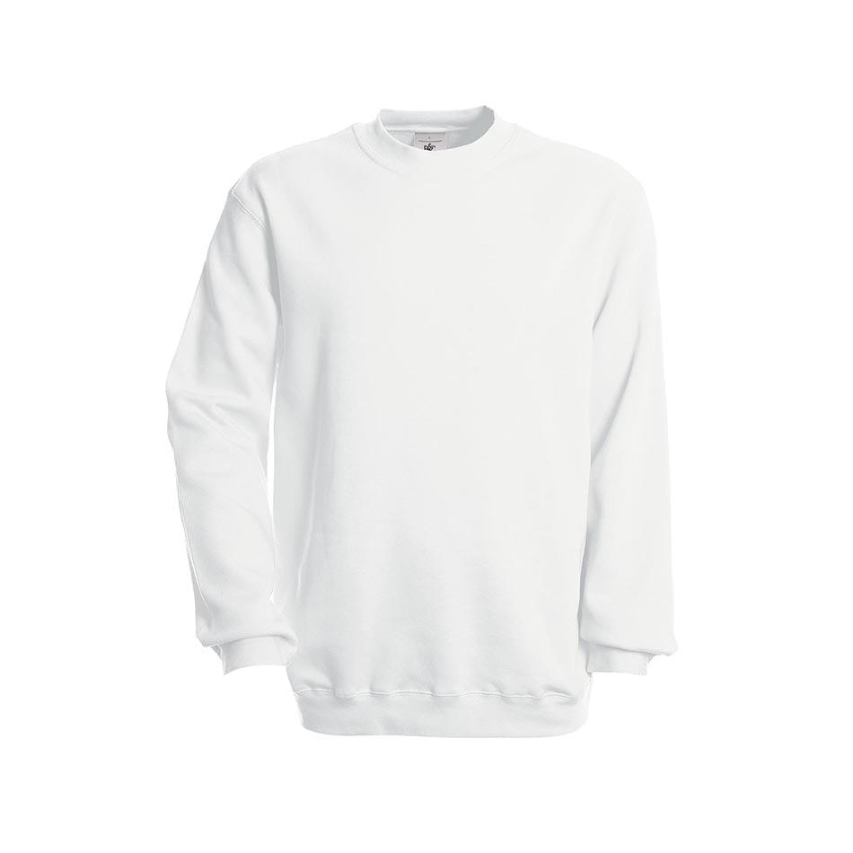 Bluzy - Bluza Crewneck Set In - B&C WU600 - White - RAVEN - koszulki reklamowe z nadrukiem, odzież reklamowa i gastronomiczna