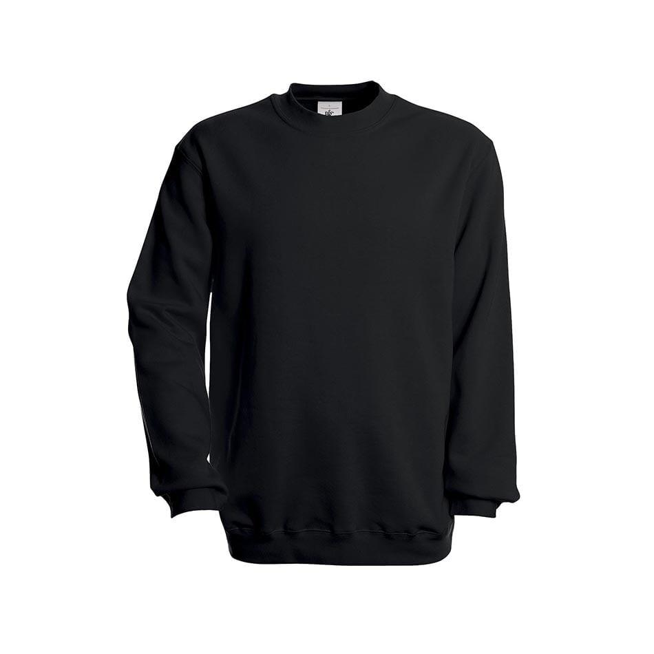 Bluzy - Bluza Crewneck Set In - B&C WU600 - Black - RAVEN - koszulki reklamowe z nadrukiem, odzież reklamowa i gastronomiczna