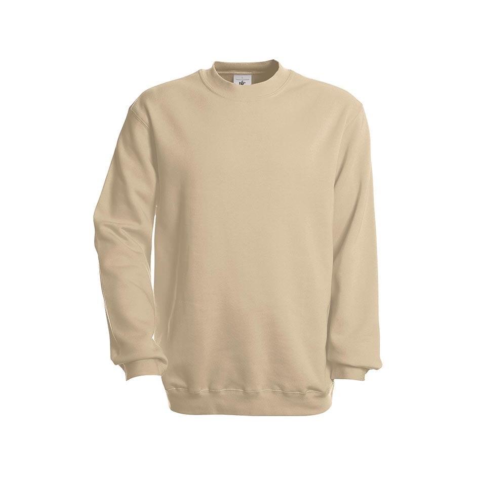 Bluzy - Bluza Crewneck Set In - B&C WU600 - Sand - RAVEN - koszulki reklamowe z nadrukiem, odzież reklamowa i gastronomiczna