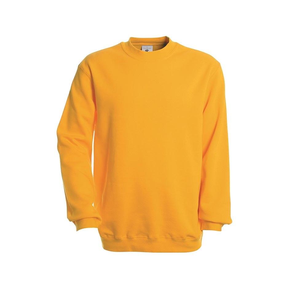 Bluzy - Bluza Crewneck Set In - B&C WU600 - Gold - RAVEN - koszulki reklamowe z nadrukiem, odzież reklamowa i gastronomiczna