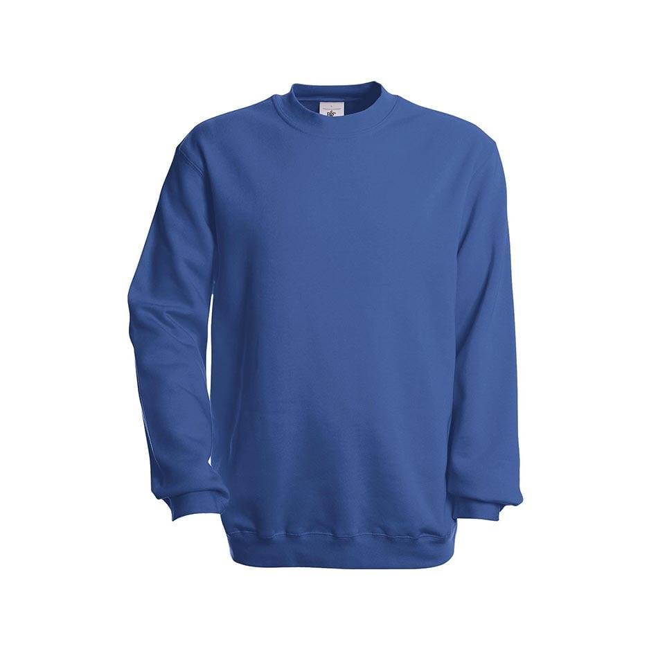 Bluzy - Bluza Crewneck Set In - B&C WU600 - Royal Blue - RAVEN - koszulki reklamowe z nadrukiem, odzież reklamowa i gastronomiczna